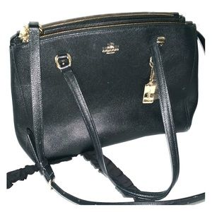 Authentic Coach Black Tote with Shoulder Strap